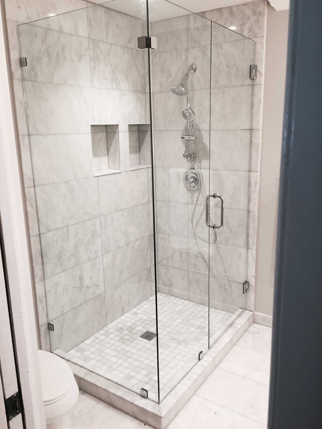 Discount glass shower doors call today for 10 off for Cheap glass doors