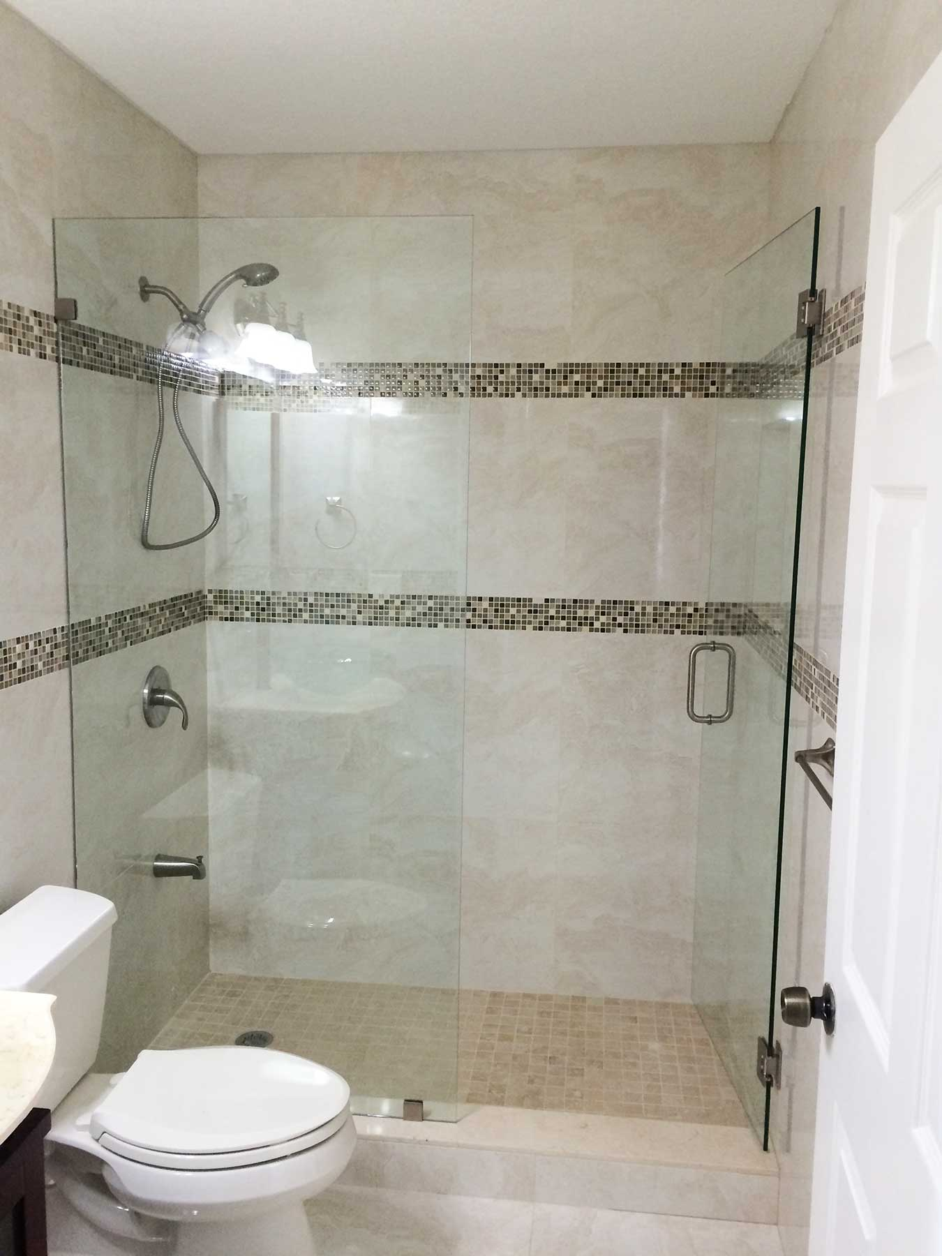 Glass shower doors we installed professionally planetlyrics